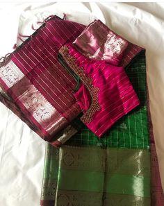 Blue Silk Saree, Simple Embroidery Designs, Pattu Saree Blouse Designs, Maggam Works, Baby Shower Dresses, Fancy Blouse Designs, Bhagavad Gita, Work Blouse, Blouse Patterns