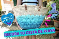 Decora cestas de playa o capazos estilo sirena - Decore a baskets mermai...