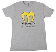 McDowells mens TSHIRT funny coming to american the big by bifftees, $10.00