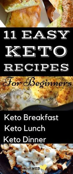 Easy keto recipes for beginners. Low carb diet recipes which are easy to follow. Simple keto breakfast on the go along with keto lunch and dinner ideas