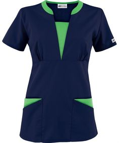 The newest addition to the UA Best Buy Scrubs collection is the Best Buy Contrast V-Neck Scrub Top. Buy Scrubs, Stylish Scrubs, Scrubs Uniform, Spa Uniform, Medical Uniforms, Nursing Uniforms, Medical Scrubs, Nursing Dress, Work Tops