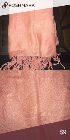 Pink pashmina scarf Gorgeous detail. Beautiful color. Pop to any outfit- formal or casual Accessories Scarves & Wraps