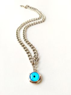 A personal favourite from my Etsy shop https://www.etsy.com/listing/472076056/evil-eye-choker-necklace-blue-evil-eye