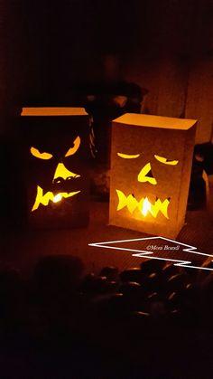 Halloween Lichtertüten im Einsatz