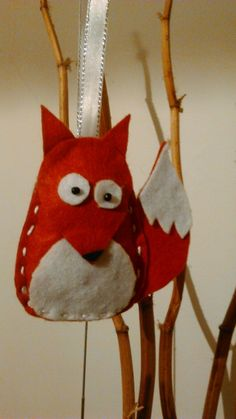 Christmas tree ornament fox