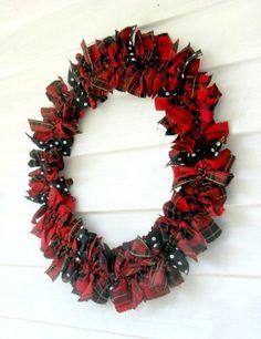 tartan plaid winter wreath