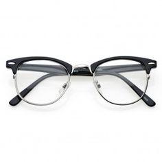80's - 'ClubsMen' Half Frame Clear Lens Glasses
