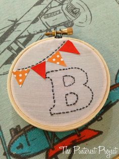 The Pinterest Project: Embroidery Hoop Art