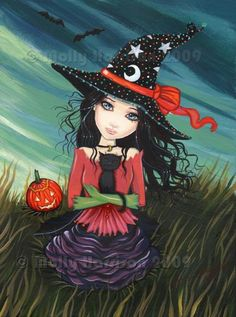 halloween artists art | Art: Fields of Halloween by Artist Molly Harrison