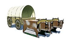 Pioneer covered wagon, cut out and glue. From The Friend 2001 Lds Primary, Primary Music, Pioneer Day Activities, Pioneer Crafts, Mormon Pioneers, Pioneer Life, Gold Centerpieces, Covered Wagon, Day Camp
