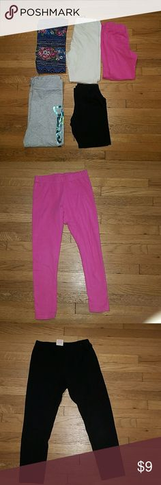 Size 6 Bundle of Girls Pants/leggings Lot # 6P003 Bundle of Girls Pants all size 6. There are 5 pair of leggings/soft pants in this bundle. Some are ankle length and some are Capri. Lot # 6P003 Bottoms Leggings