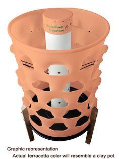 Terra Cotta Vertical Tower I Can Make Out Of 5 Gallon Buckets Garden