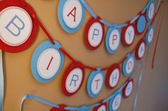 Circus Party Banner Carnival Birthday Party Banner by Bellezaeluce, $40.00