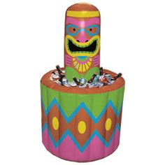 4 Foot Jumbo Inflatable Tiki Cooler from Windy City Novelties