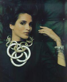 """""""Les Couleurs De L'Argent"""", Vogue France, February 1997 Photographer : Matthew Donaldson Model : Astrid Munoz"""