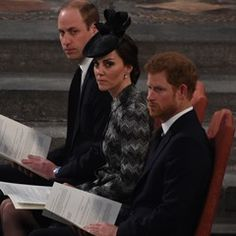 The Duke and Duchess of Cambridge and Prince Harry attend a Service of Hope in London
