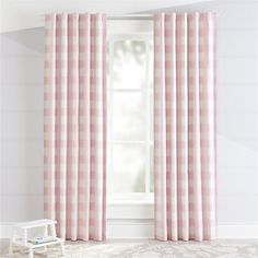 Sale ends soon. Our Buffalo Check Blackout Curtains feature a classic pink and white pattern and are made from cotton. Pink Bedroom Design, Pink Bedroom Decor, Pink Bedroom For Girls, Big Girl Rooms, Shabby Bedroom, Pink Bedrooms, Pretty Bedroom, Small Bedrooms, Nursery Design