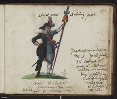 """another priest/soldier bifid, dated 1622 and certainly derived from the """"Pugillus Facetiarum"""" figure -- includes same captions REPINNED FROM MY """"ALBUM AMICORUM"""" BOARD"""