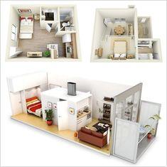 One Bedroom Apartment Floor Plans 3d 1.5 bedroom/1.5 bathroom loft apartment floor plan | loft