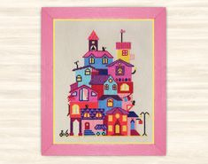City Cross Stitch Pattern chart urban house home by TimeForStitch