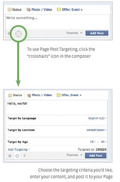 Use Post Targeting to segment your Facebook audience further.