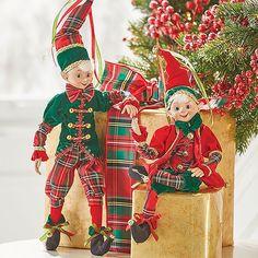 Browse our RAZ Posable Elf Red Green Plaid Set of as well as other RAZ Christmas & Halloween Decor RAZ Elves, Figurines at Trendy Tree. Elf Decorations, Elf Christmas Decorations, Christmas Wreaths, Christmas Ornaments, Christmas Gingerbread, Plaid Christmas, Christmas Home, Christmas Crafts, Trendy Tree