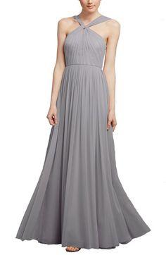 3c1087c3ad7 Donna Morgan  Ava  Halter Style Mesh A-Line Gown Chic Bridesmaid Dresses