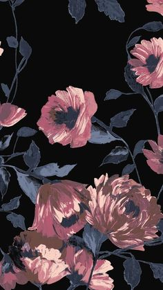 Wallpaper flowers pattern floral design 43 new Ideas Floral Wallpaper Desktop, Flower Wallpaper, Wall Wallpaper, Mobile Wallpaper, Wallpaper Backgrounds, Backgrounds For Iphone, August Wallpaper, Floral Pattern Wallpaper, Wallpaper Ideas