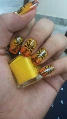 Sunset nail art ideas #myfirstdesign