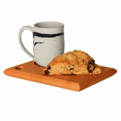 Cherry Coffee & Pastry Board by Sabbath-Day Woods Breakfast Pastries, Breakfast In Bed, Pastry Board, Sabbath Day, Do It Yourself Crafts, Stoneware Mugs, Serving Board, Mugs Set, Coffee