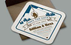 Yield Ink | Aprés ski letterpress wedding invitations