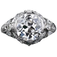 Looks a lot like mine!   LOVE my ring...  3.58 Carat European Cut Diamond Antique Engagement Ring