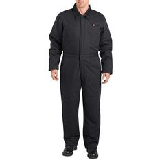 Men's Dickies Sanded Duck Insulated Coverall, Size: Medium, Black