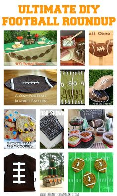 Ultimate DIY Football Party Roundup!