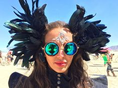 """Black People: what do you think of the """"Burning Man"""" festival . Burning Man Outfits, Burning Man Fashion, Crazy Costumes, Cool Costumes, Costume Ideas, Burning Man 2016, Quirky Girl, Festival Costumes, Festival Outfits"""