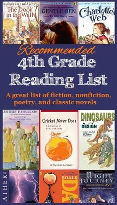 4th Grade Reading List of Recommended Great Books