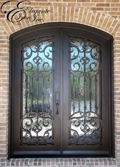 Custom wrought iron door.
