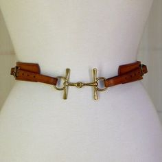 Equestrian Chic Leather Belt Fits
