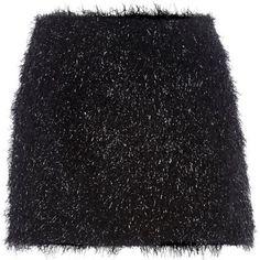 I'm shopping Black Chelsea Girl tinsel mini skirt in the River Island iPhone app.