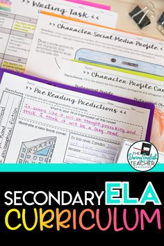 Secondary ELA Curriculum: Free Pacing Guide. Ideal for teachers teaching middle school ELA and high school English, this pacing guide works fr grades 7-10 and will help you plan out all of your instruction! middle school ELA | high school english | pacing guide | curriculum map for ELA Teaching Literature, Teaching Grammar, Teaching Writing, Teaching Resources, Pacing Guide, Guide Words, Curriculum Mapping, Middle School Ela, First Year Teachers