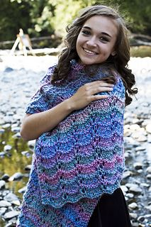 This fun Shawl is an easy project to create. The pattern is FREE! The yarn is easy to use and easy care!