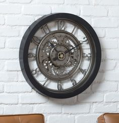 Enrich Your Room with an Oversize Clock Big Wall Clocks, Wall Clock With Gears, Homemade Air Conditioner, Traditional Wall Clocks, Oversized Clocks, Steampunk Clock, How To Make Wall Clock, Large Clock, House Design