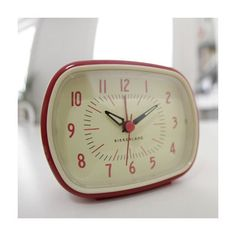 The red is definitely the cutest; Kikkerland Retro Alarm