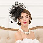Women's Feather Tulle Net Headpiece-Wedding Special Occasion Fascinators 1 Piece 2017 - $9.99