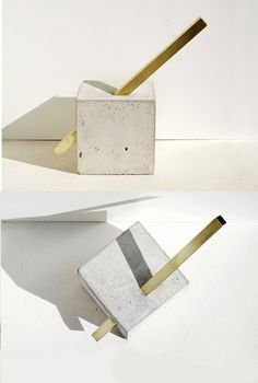 concrete + brass | sculpture