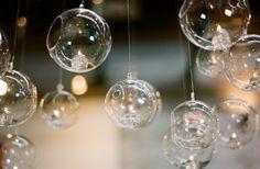 Kim + Mark « Southern Weddings Magazine glass orb tealights