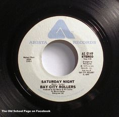 Saturday Night by Bay City Rollers.my poor grandma-God bless her.no wonder she couldn't hear.when she told us to turn this down, I think we turned it up louder ; Bay City Rollers, Vinyl Records, 45 Records, Rockn Roll, My Music, Music Songs, I Remember When, Yesterday And Today, My Childhood Memories