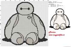 Big hero 6 baymax cross stitch pattern