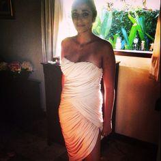 Gorgeous in custom made Le Grana dress #legrana #le #grana