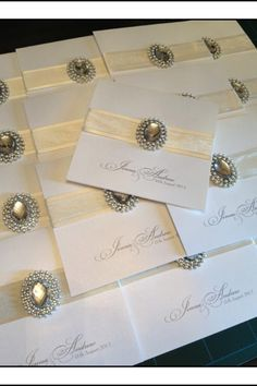 Couture Wedding Stationery - find us on Facebook at Deannamic Designs - Like our page - follow us on Instagram and Pinterest